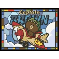 라인프렌즈 캡틴 브라운 (패브릭) 보석십자수 38x52