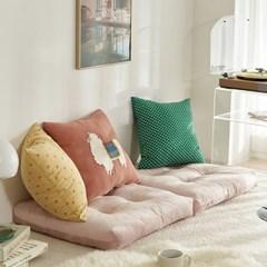 부드러운 핑크 극세사 빵빵이 대방석