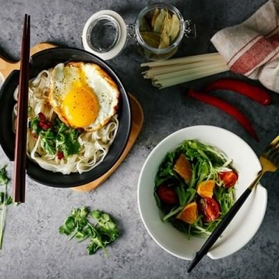 아이디어 젓가락 거치식 면기 그릇 우동기 덮밥 일식