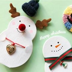 크리스마스 눈사람 카드 만들기 10set