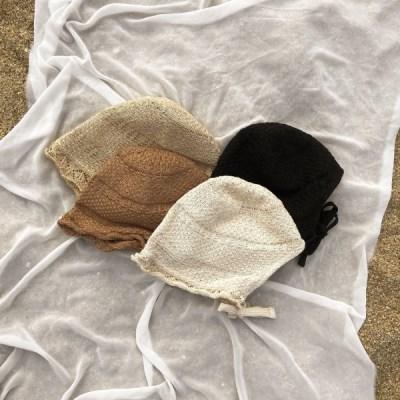 프릴 와이어 보넷 끈 벙거지 모자 4color
