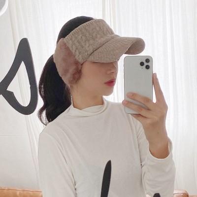 겨울 여성 니트 운동 골프 등산모자 썬캡