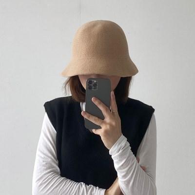 겨울 니트 벙거지 버킷햇 모자