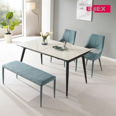 파블로 익스텐션 세라믹 4인~6인 식탁세트(벤치+의자2개)