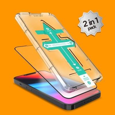 2매 아이폰 13 미니 프로 맥스 3D 풀커버 이지키트 강화유리 필름