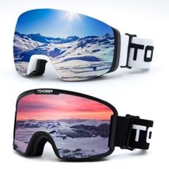 톰디어 HD더블렌즈 방풍 스키고글 스노우보드 고글