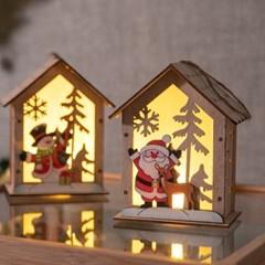 우드만세 하우스전구 14cm 크리스마스 장식 TRDELB