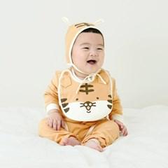 [메르베] 아기호랑이 신생아 바디슈트/북유럽아기옷_사계절용