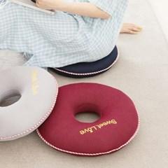 사랑예감 원형 에어메쉬 3색 도넛 쿨 방석 + 전용세탁망