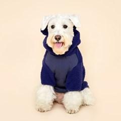 [예약상품] 플로트 플러피후리스 베어후드 강아지옷 네이비