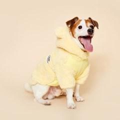 [예약상품] 플로트 플러피후리스 베어후드 강아지옷 레몬