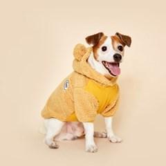 플로트 플러피후리스 베어후드 강아지옷 옐로우