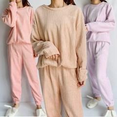 극셋사 밍크 겨울 수면 잠옷 상하세트 골지