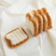 저니버디 귀여운 아크릴 식빵 수세미 6개 SET
