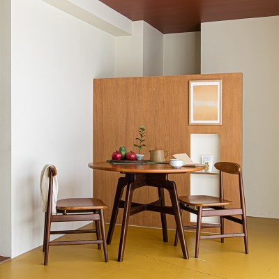 런더너 라운드 테이블 2인 식탁세트
