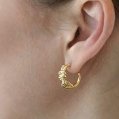 knot ring earring E041