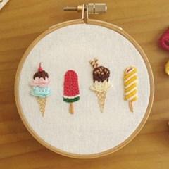 치즈달의 달콤 아이스크림 자수