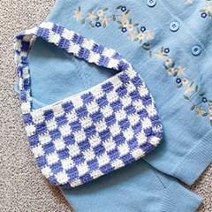 김팥쥐의 인생 첫 뜨개질 체커보드 가방 & 코스터 만들기