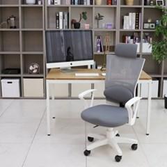 오피스 요추형 화이트 의자