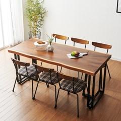 코디 2000x800 우드슬랩식탁 6인용식탁 카페테이블