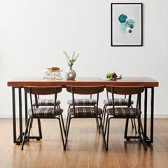 코디 2000x600 식탁 우드슬랩식탁 원목식탁 6인용식탁