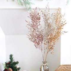 메탈 루스커스 크리스마스 조화 (3colors)