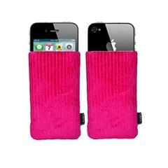 [FABRIX]핸드메이드 아이폰4 슬리브 케이스-Fiery Pink