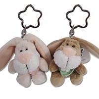 빈백키링-토끼(키링 꽃무늬)