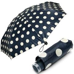 [VOGUE] 보그 5단 수동 우산(양산겸용) - 도트홀릭(NV)