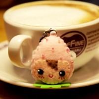 [펠트 DIY패키지] 파스텔딸기 휴대폰줄-핑크 만들기