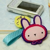 [펠트 DIY패키지] 동물원 휴대폰줄-토끼 만들기