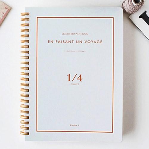 Quartered notebook 1/4