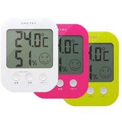[일본 드레텍]표정으로 체크하자! 대형액정 디지털 온습도계 O-230