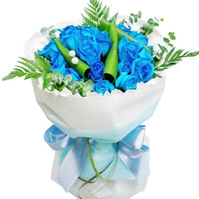 [3시간당일배송] 파란장미 꽃다발