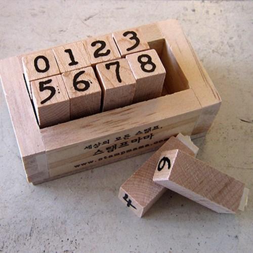 광수타이프라이트체 숫자 스탬프세트