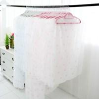 핑크 안개꽃 투명창 옷커버 40장 세트