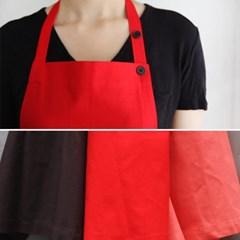 long apron red&brown&pink