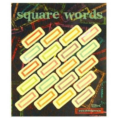 square words sticker