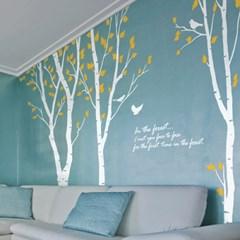 숲의노래(자작나무3그루) - 그래픽스티커