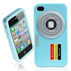 아이폰4 다양한색상 iCamera 3D입체 실리콘케이스