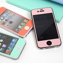 iPhone4/4s 샤베트토핑 컬러필름 (5color)