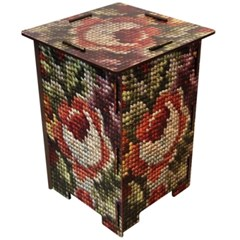 Stool-cross stitch