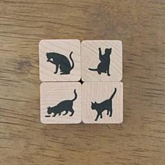 [동물&곤충]실루엣 캣츠 세트 (Silhouette cats set)