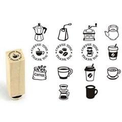 [커피앤티][주문제작]커피앤티★쿠폰고무스탬프(14종선택)