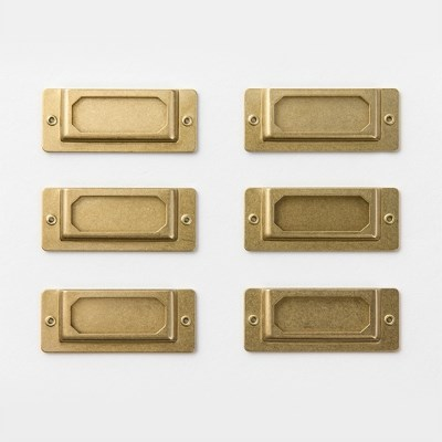 [BRASS PRODUCTS] LABEL PLATE