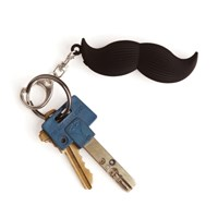 Mustache talking keychain