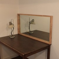 유메11 원목 작은거울