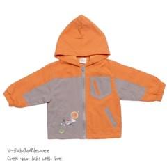 H-24421 우주여행 고급 Stylish 바람막이 점퍼 Orange
