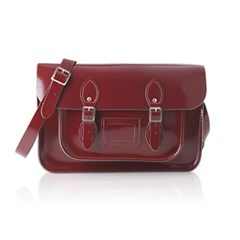 14inch Patent Oxblood Red