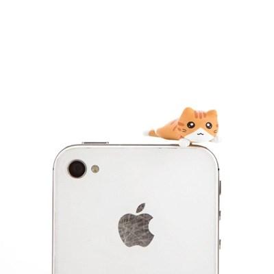 고양이 이어캡 Vol. 2 (엎드린 노랑 고양이)